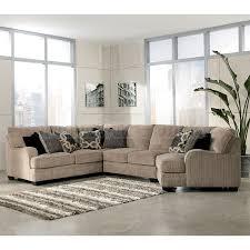Cuddler Sofa Sectional Katisha Platinum Sectional W Cuddler Sectionals At