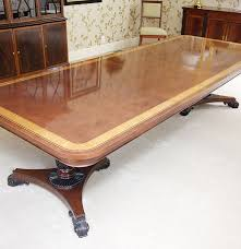 baker furniture english regency style mahogany dining room table