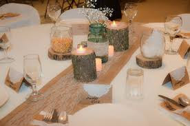 burlap and lace country wedding decorations plowing through