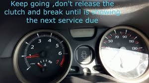 how to reset the service due renault megane youtube
