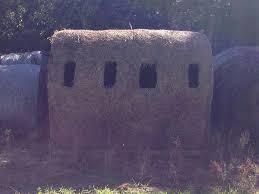 Redneck Hay Bale Blind Homemade Real