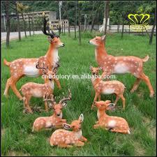Villa Decoration by Sika Deer Garden Sculpture Resin Outdoor Large Animals Frp