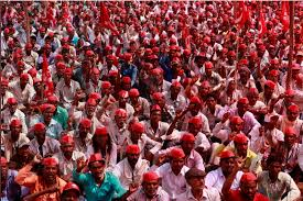 Seeking In Mumbai Thousands Of Indian Farmers March To Mumbai Seeking Government Support