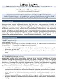 Hotel General Manager Resume Samples by Hospitality Resume Examples Resume Professional Writers