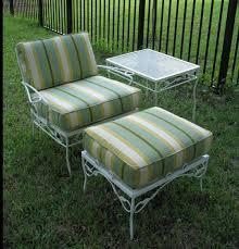 image of vintage metal lawn chairs design