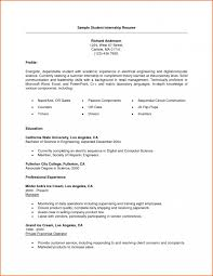 resume exles for college students seeking internships for high resume for college student seeking internship