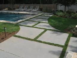 bluestone slabs radial cut pool pinterest paver designs