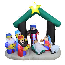 christmas inflatables the aisle christmas nativity with three