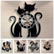 3d animal wall clock vinyl