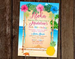 hawaiian themed wedding invitations hawaiian luau birthday invitation luau party hawaiian