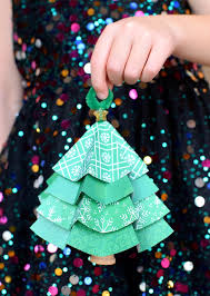 folded paper christmas tree ornaments what can we do with paper