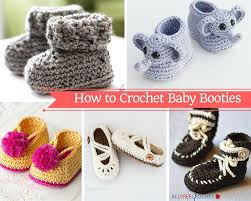 How To Crochet A Rug Out Of Yarn How To Crochet Baby Booties With 51 Patterns Allfreecrochet Com