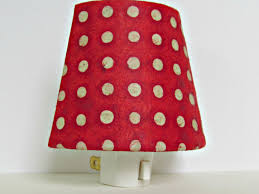 red home accessories decor night light red baby boy nursery decor red and white polka