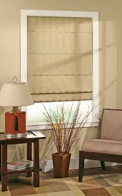 Roman Shade With Curtains Types Of Roman Shades Blindsmax Com
