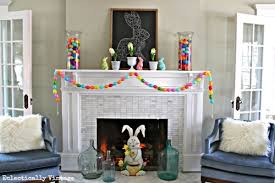 easter mantel decorations diy easter mantels