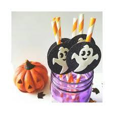 halloween paper straws halloween party halloween decor pumpkin