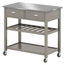 kitchen island at target stainless steel top kitchen island threshold white in our