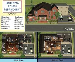 Police Station Floor Plan Mod The Sims Simtopia Community Set 2 2 Fire Stations And 2