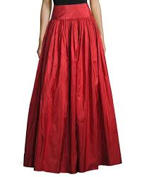 silk skirt michael kors taffeta silk skirt crimson