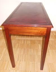 Schreibtisch Antik Kleiner Englischer Schreibtisch Rotes Leder Mahagoni Schreibtisch
