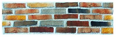 Brick Texture Paint - creating textures in watercolor guaranteed to improve your