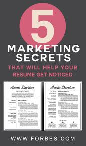 Forbes Resume Examples by Best 20 Marketing Resume Ideas On Pinterest Resume Resume