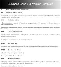 business case template free word pdf documents creative template