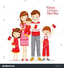 family happy envelopes traditional celebration stock vector