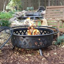 Clay Fire Pit Red Ember Fire Pits Backyard U0026 Garden Hayneedle