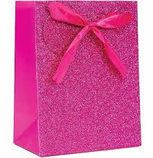 pink gift bags hot pink glitter gift bag bridesmaid gift bags