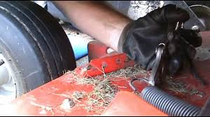 gravely drive belt replacement and tension bracket repair youtube