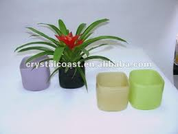 Square Vase Wholesale Chinese Hand Blown Stained Square Cheap Acrylic Glass Vase