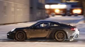 new porsche 2019 2019 porsche 911 caught with the rear spoiler down