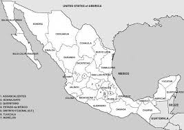 political map of mexico geography outline maps united states us and canada printable