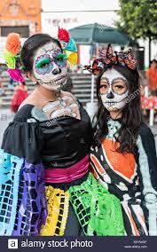 catrina costume mexican women dressed in la calavera catrina costume for the