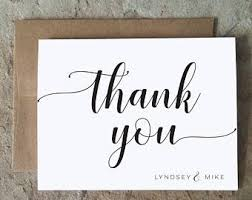 personalized thank you cards thank you cards etsy