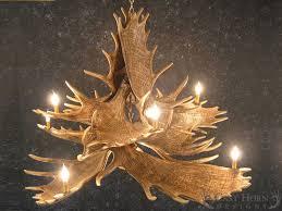 Authentic Antler Chandelier Moose 10 Antler Chandelier Cast Horn Designs