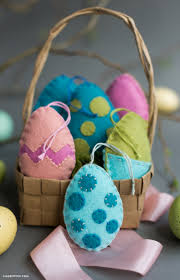 felt easter egg ornaments lia griffith
