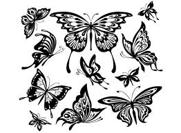 32 best black white and purple butterfly tattoos images on