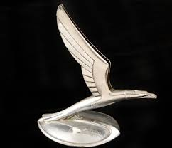 winged eagle ornament cal 1933 chevy near condition