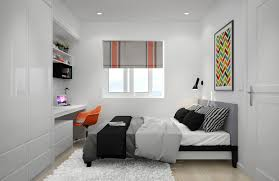 Small Bedroom Ideas With Full Bed Bedroom Decorating White Painted Desk Orange Desk Chair Shag