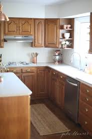 To Paint Or Stain Kitchen by Best 25 Staining Oak Cabinets Ideas On Pinterest Painting Oak