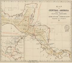 Political Map Of Central America by File 1871 Map Of Central America Showing Its Political Divisions