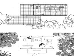 philip glass house plan section and elevation escortsea