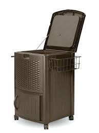 resin wicker storage chest resin wicker cooler outdoor kitchen