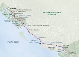 Gulf Of Alaska Map by Itinerary Map Images Uncruise Adventures