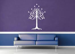 white tree of gondor tolkien wall decal geekerymade