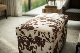 Cowhide Chairs And Ottomans Furniture Cowhide Storage Bench And Cow Skin Ottoman Also Cowhide