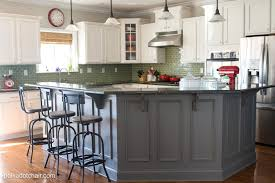 Antique Painted Kitchen Cabinets Combine Modern Theme With Antique Grey Kitchen Cabinets