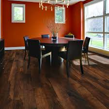 floor orange painted wall design ideas for modern dining room